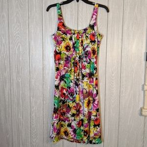 Nwt Glamour multicolored floral shift dress sz 8